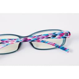 フィルストン UV&ルーライトカット リーディンググラス(男女兼用) スクエア型 柄入り (エ)マルチカラー