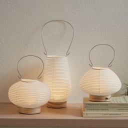 道行灯(LED照明) 左から(ア)まる (イ)のっぽ (ウ)むすび