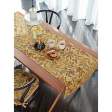 モリスデザインスタジオ ジャカード織 はっ水テーブルランナー〈フルーツ〉約60×180