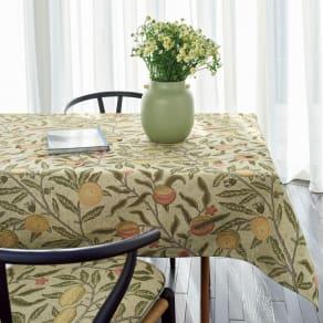 モリスデザインスタジオ ジャカード織 撥水テーブルクロス〈フルーツ〉約134×180 写真