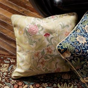 モリス ジャカード織クッションカバー〈レスターアカンサス〉45×45cm用 写真