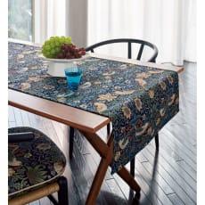 モリスデザインスタジオ ジャカード織 はっ水テーブルランナー〈いちご泥棒〉約64×180