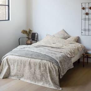 ピュア・モリス リバーシブル毛布〈ピュアいちご泥棒〉 約140×200cm 写真