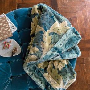 モリスギャラリー リバーシブル毛布〈アーカンサス〉 シングル 写真