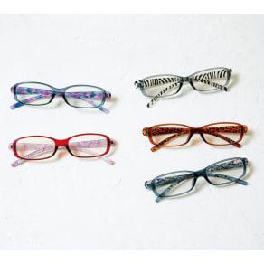 フィルストン UV&ルーライトカット リーディンググラス(男女兼用) スクエア型 柄入り 写真