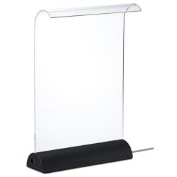 LEDデスクライト Glowide(グローワイド) アルミタイプ (ウ)ブラック