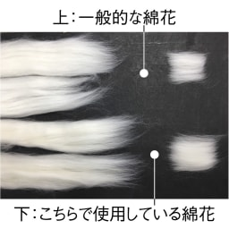 伸縮する2重ガーゼのパジャマ(長そで・長ズボン) 繊維長が長く、強度が高くしなやかな超長綿を使用。