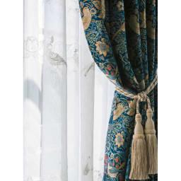 装飾カーテン用タッセル1本 (ア)アイボリー 使用イメージ
