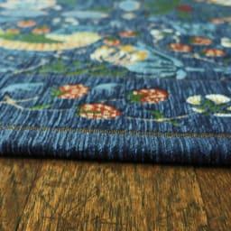 ベルギー製モリスゴブラン織ラグ〈いちご泥棒〉 厚さ約10mm