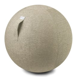 バランスボール VLUV/ヴィーラブ ファブリックシーティングボール(直径55cm/直径65cm) (ウ)ベージュ 持ち運びに便利なハンドル付き。 ※写真は直径65cmタイプです。