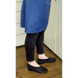 ARCOPEDICO/アルコペディコ メッシュシューズ ステップス 有元さんは、室内履きとしても愛用中。 (エ)ブラック コーディネート例