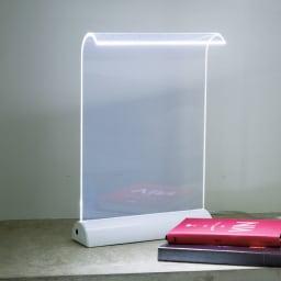 LEDデスクライト Glowide(グローワイド) アルミタイプ (ア)ホワイト