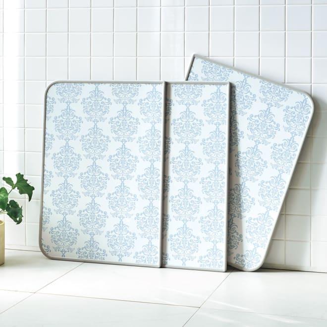 AGパネル風呂ふた ダマスク柄 (ア)ブルーグレー ※写真は73×158cmタイプです。