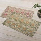 45×75cm(ベルギー製モリス ゴブラン織マット〈ピンク&ローズ〉) 写真