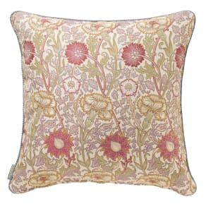 モリス ジャカード織 クッションカバー 〈 ピンク&ローズ 〉60×60cm用 写真