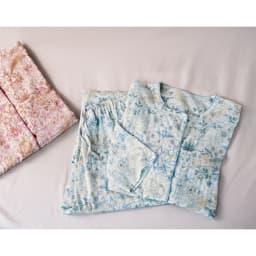 ピュア・モリス 二重ガーゼパジャマ〈ピュアいちご泥棒〉 (イ)ピンク