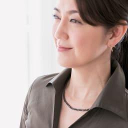 コラントッテ ネックレス ルーチェ コーディネート例 普通のネックレスのように気軽におつけいただけます。