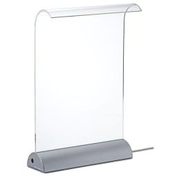 LEDデスクライト Glowide(グローワイド) アルミタイプ (イ)シルバー