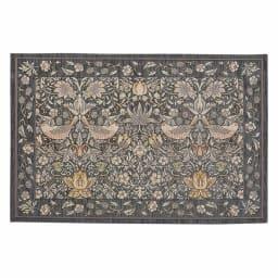 ベルギー製モリスゴブラン織マット〈いちご泥棒〉 (ウ)グレー
