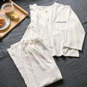 2重ガーゼのパジャマ/スリーパー パジャマ 写真