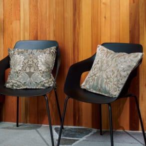 モリスデザインスタジオ ジャカード織 クッションカバー ハニーサクル&チューリップ 写真