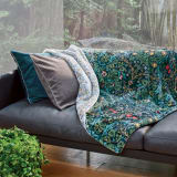 モリスギャラリー リバーシブル毛布 〈ブラックソーン〉 ハーフケット 写真