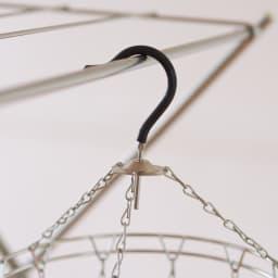 18-8ステンレス ピンチハンガー丸型Mサイズ(ピンチ12個付き) フック部分は横滑りしにくい合成ゴムを使用