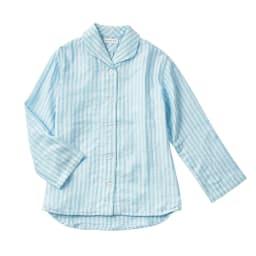 UCHINO(ウチノ) マシュマロガーゼパジャマ ダブルストライプ メンズ (イ)ブルー色見本 ※写真はレディースタイプです。形状は異なります。