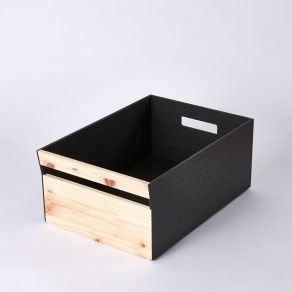Hinoki+(ヒノキプラス)スタッキング収納ボックス Mサイズ1個 写真
