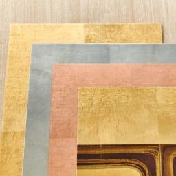 HAKU LA TABLE(ハク ラ ターブル) テーブルマット1枚(約30×40cm) 光のあたり方により、表情が変化するのも箔ならでは