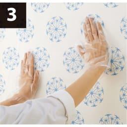 【ディノス特別セット】4本組セット(透けるウォールシート 限定柄) 貼り方の作業工程3 「透けるウォールシート」を貼って完成!
