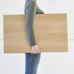 Slim すっきり折りたたみ可能なテーブル 幅120cm 軽量でコンパクト。簡単に折りたたんで、持ち運べます。(写真はデスク75)