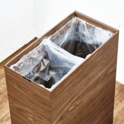 木目調ダストボックス 容量45L(引き出しなしタイプ) 2分別も可能です。
