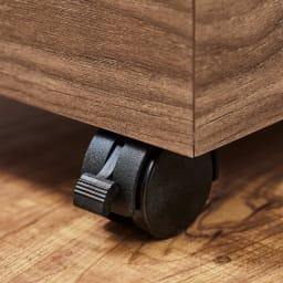 木目調ダストボックス 容量45L(引き出しなしタイプ) キャスター付きで移動もラクラク、お掃除がしやすい。