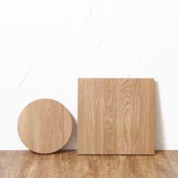 キャスター付きプランターベース ホワイトオーク 角40cm ※お届けは写真右の40cmの角型タイプになります。写真左は丸型24cmタイプ。