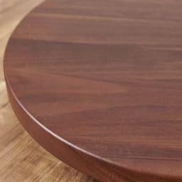 キャスター付きプランターベース ウォールナット 直径24cm 高級感漂うウォルナット天然木はお部屋のインテリアをワンランクアップしてくれます。
