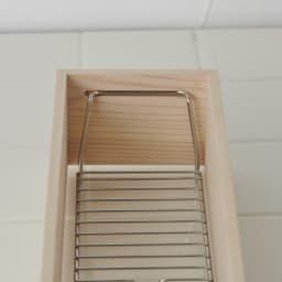 ambai(アンバイ) 風呂道具シリーズ シャンプー&ソープボトルラック ステンレス線材は取り外しも可能で衛生的な作りに。
