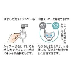 浄水ファインバブルシャワー セット(浄水カートリッジ2個付き)