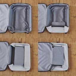 ROLLINK 薄くたためるスーツケース容量40L/機内持ち込みサイズ 畳み方は、とても簡単!面ファスナーで着脱できます