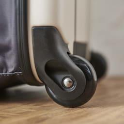 ROLLINK 薄くたためるスーツケース容量40L/機内持ち込みサイズ キャスターは安定した走行の2輪タイプ。