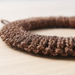 紀州棕櫚の鍋敷き 大 芯材には木材使用で安定感も◎