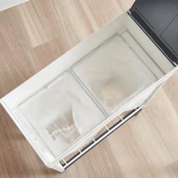 ミヤケデザイン ダストボックス 30L スチール脚タイプ(蓋なし・蓋付き) 10L袋枠×2 付きだから2分別にも対応可能です