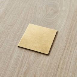 HAKU LA TABLE(ハク ラ ターブル) コースター同色2枚組(約10×10cm) (ア)ゴールド 同色2枚組