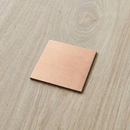 HAKU LA TABLE(ハク ラ ターブル) コースター同色2枚組(約10×10cm) (ウ)コパー 同色2枚組