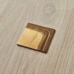 HAKU LA TABLE(ハク ラ ターブル) コースター同色2枚組(約10×10cm) (エ)ゴールドグラデーション 同色2枚組