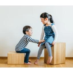 かるばこ テーブル&スツール 20cmと40cmの組み合わせならお子さんのテーブル&スツールとして活躍します