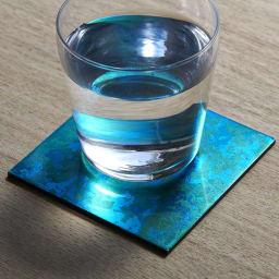 HAKU LA TABLE(ハク ラ ターブル)コースター1枚 (ア)ブルー系