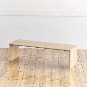 Slim すっきり折りたたみ可能なテーブル 幅120cm 写真