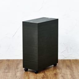 木目調ダストボックス 容量45L(引き出しなしタイプ) (イ)ブラック系