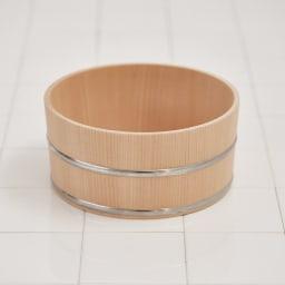 ambai(アンバイ) 風呂道具シリーズ 木曽産さわらの湯桶(風呂桶) 飽きのこないシンプルなデザイン